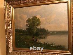 2 Peintures Anciennes Tableau Marine Bateau Mer. Et Paysage