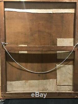 ANCIEN TABLEAU, HUILE SUR TOILE, PEINTURE, PORTRAIT DE FEMME, XIXeme, SIGNE