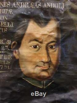 ANCIEN TABLEAU, PORTRAIT, XVIIIeme, EVEQUE, 1782, PEINTURE, RELIGIEUX, religion