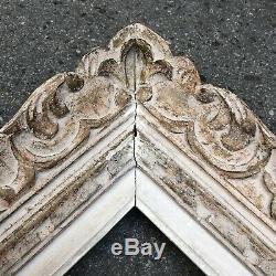 Ancien Cadre Montparnasse Bois Sculpté Format 10F début XXème Tableau Peinture