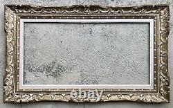 Ancien Cadre Montparnasse Bois Sculpté Format 40 x 80 cm XXème Tableau Peinture