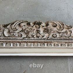 Ancien Cadre Montparnasse Bois Sculpté Format 8F début XXème Tableau Peinture