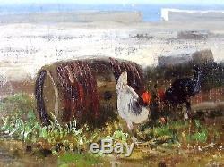 Ancien Tableau André Maglione (1838-1923) Peinture Huile Antique Oil Painting