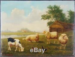 Ancien Tableau Arthur de Waerhert (1881-1944) Peinture Huile Antique Painting