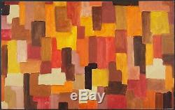 Ancien Tableau Attribué à Johannes Itten (1888-1967) Peinture Huile Oil Painting