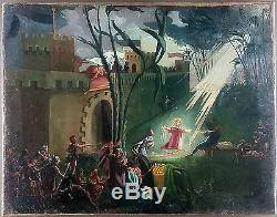 Ancien Tableau Attribué à Oskar Laske (1874-1951) Peinture Huile Oil Painting
