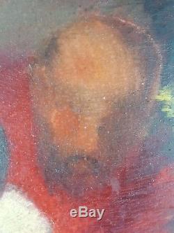 Ancien Tableau Baigneuse Peinture Huile Antique Oil Painting