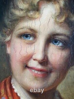 Ancien Tableau Bavaroise Peinture Huile Antique Oil Painting Old Ölgemälde
