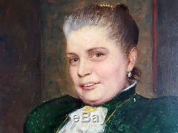 Ancien Tableau Charles Corbineau (1835-1901) Peinture Huile Antique Oil Painting