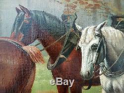 Ancien Tableau Charles-Henri Stiennon (1851-1942) Peinture Huile Oil Painting
