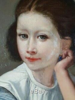 Ancien Tableau Charles Verlat (1824-1890) Peinture Huile Antique Oil Painting