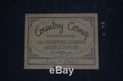 Ancien Tableau Country Corner Bar A Vin Bistrot En Relief Et D Epoque