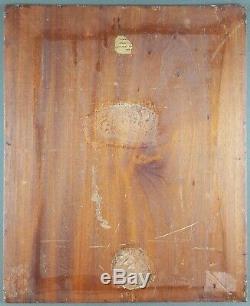 Ancien Tableau Dame au Bonnet Peinture Huile Antique Oil Painting Dipinto