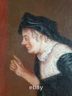 Ancien Tableau Dame en Robe Allongée Peinture Antique Oil Painting Ölgemälde