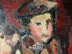 Ancien Tableau Dix de Der Peinture Huile Antique Oil Painting