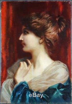 Ancien Tableau Etienne Piot (1850-1910) Peinture Huile Toile Antique Painting