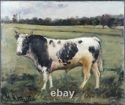 Ancien Tableau Henry Schouten (1857-1927) Peinture Huile Antique Oil Painting