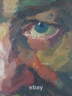 Ancien Tableau Homme à Barbe Peinture Huile Antique Oil Painting Dipinto
