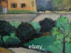 Ancien Tableau Huile Peinture Toile Paysage De Provence Fauviste Sam N Brandt 66