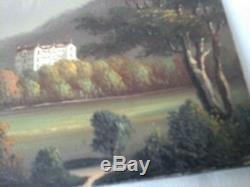 Ancien Tableau, Huile Sur Carton, Montagne, Chamonix, Peinture