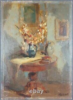 Ancien Tableau Intérieur Peinture Huile Antique Oil Painting Pittura Gemälde