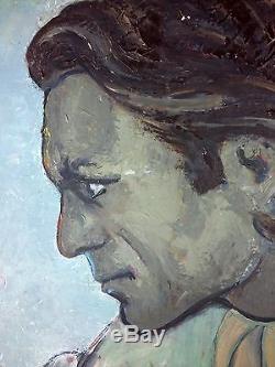Ancien Tableau Jac Adam (1918-2003) Peinture Huile Antique Oil Painting