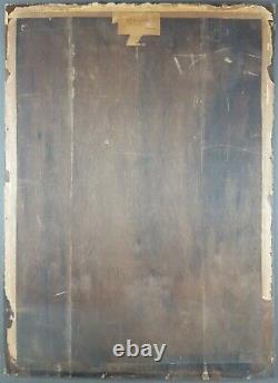 Ancien Tableau Jules Lentrein (1875-1943) Peinture Huile Antique Oil Painting