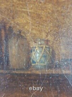 Ancien Tableau Karl Litschauer (1830-1871) Peinture Huile Oil Painting Ölgemälde