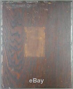 Ancien Tableau La Lessive Peinture Huile Panneau Antique Oil Painting Old