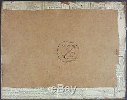 Ancien Tableau La Mort de Patrocle Peinture Huile Antique Oil Painting