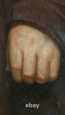 Ancien Tableau La Soupe Peinture Huile Antique Oil Painting Dipinto Olio