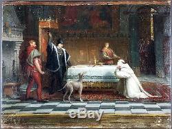 Ancien Tableau Louis XI Peinture Huile Antique Oil Painting