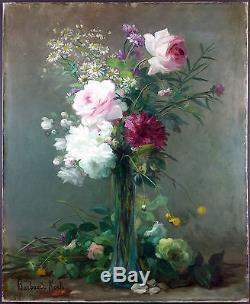 Ancien Tableau Marthe Barbaud-Kock (1862-1928) Peinture Huile Oil Painting