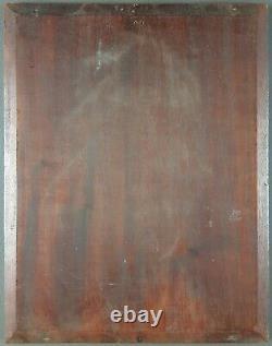 Ancien Tableau Mère avec Enfants Peinture Huile Antique Old Painting Dipinto