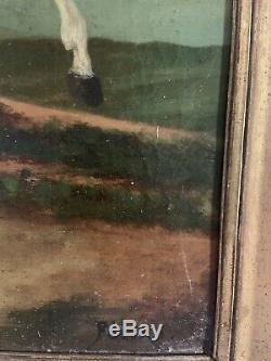 Ancien Tableau Napoléon Huile Sur Toile Empire 19 E Peinture Ancienne