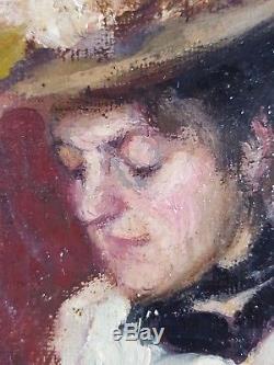 Ancien Tableau Nina Simonovich (1878-1958) Peinture Huile Antique Oil Painting