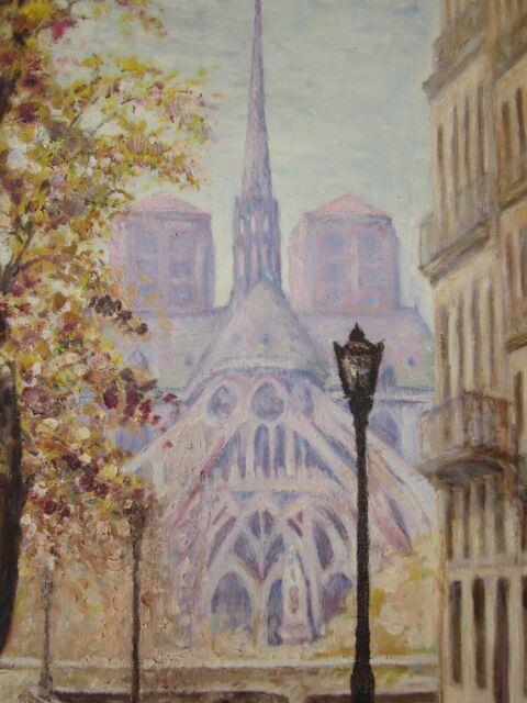 Ancien Tableau Notre Dame De Paris / Flèche De Notre Dame Paris 1949