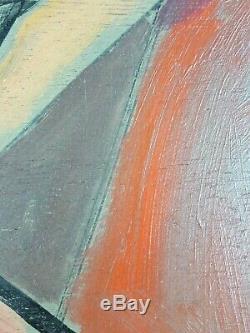 Ancien Tableau Nu Féminin Peinture Huile Panneau Antique Oil Painting Dipinto