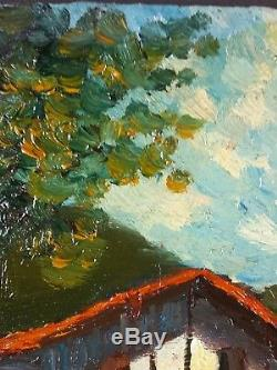 Ancien Tableau Octave de Creusillet Peinture Huile Antique Oil Painting Dipinto