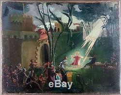 Ancien Tableau Oskar Laske (1874-1951) Peinture Huile Antique Oil Painting