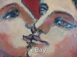 Ancien Tableau Paul Lagote Peinture Huile Antique Oil Painting Dipinto Ölgemälde