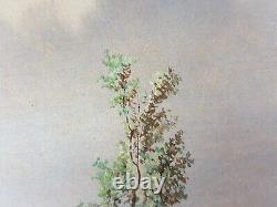 Ancien Tableau Paysage Animé Peinture Antique Oil Painting Ölgemälde Dipinto