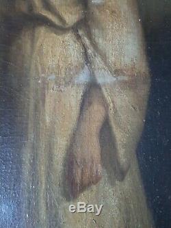 Ancien Tableau Peinture EMILE DUPONT ZIPCY Xix Ème portrait femme