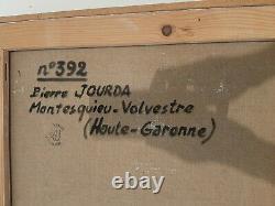 Ancien Tableau Peinture HST Abstraction Lyrique Annees 50/60 Pierre Jourda