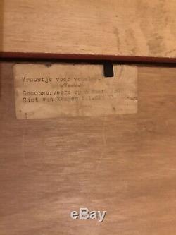 Ancien Tableau Peinture Huile Sur Panneau