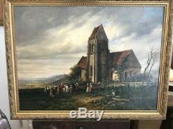 Ancien Tableau / Peinture, porte une signature C TROYON +- 1830