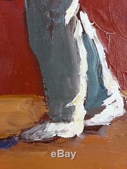 Ancien Tableau Pelote Basque Peinture Huile Antique Oil Painting