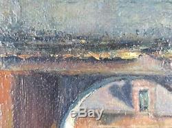 Ancien Tableau Porte du Couvent Peinture Huile Antique Oil Painting