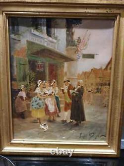 Ancien Tableau, Portrait, Huile Sur Toile, Alsacienne, Xixeme, Signe, Peinture