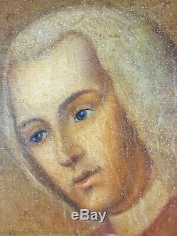 Ancien Tableau Portrait de Famille Peinture Huile Antique Oil Painting Dipinto